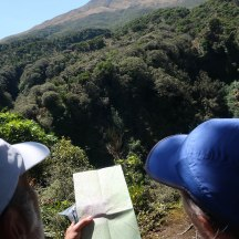 Consulting the topo map, only because we had it with us. :-)