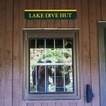 Proof we made it to Lake Dive Hut. :)