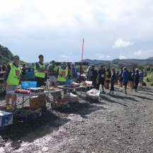 Second aid station before the climb up Mt Kahuranaki begins.