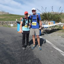 Te Mata Peak where a friendly supporter/spectator offered to take our photo.