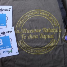 Race bibs, and we ironically also finished in that order, event Ts and bling.