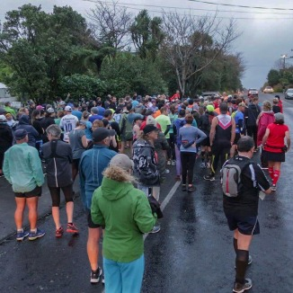 Wet and dark at the start.