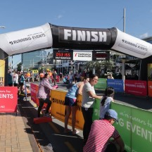 The finish in the main street of Tauranga City.