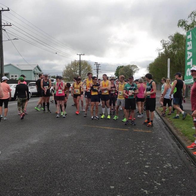 Start of the 21.1km run.